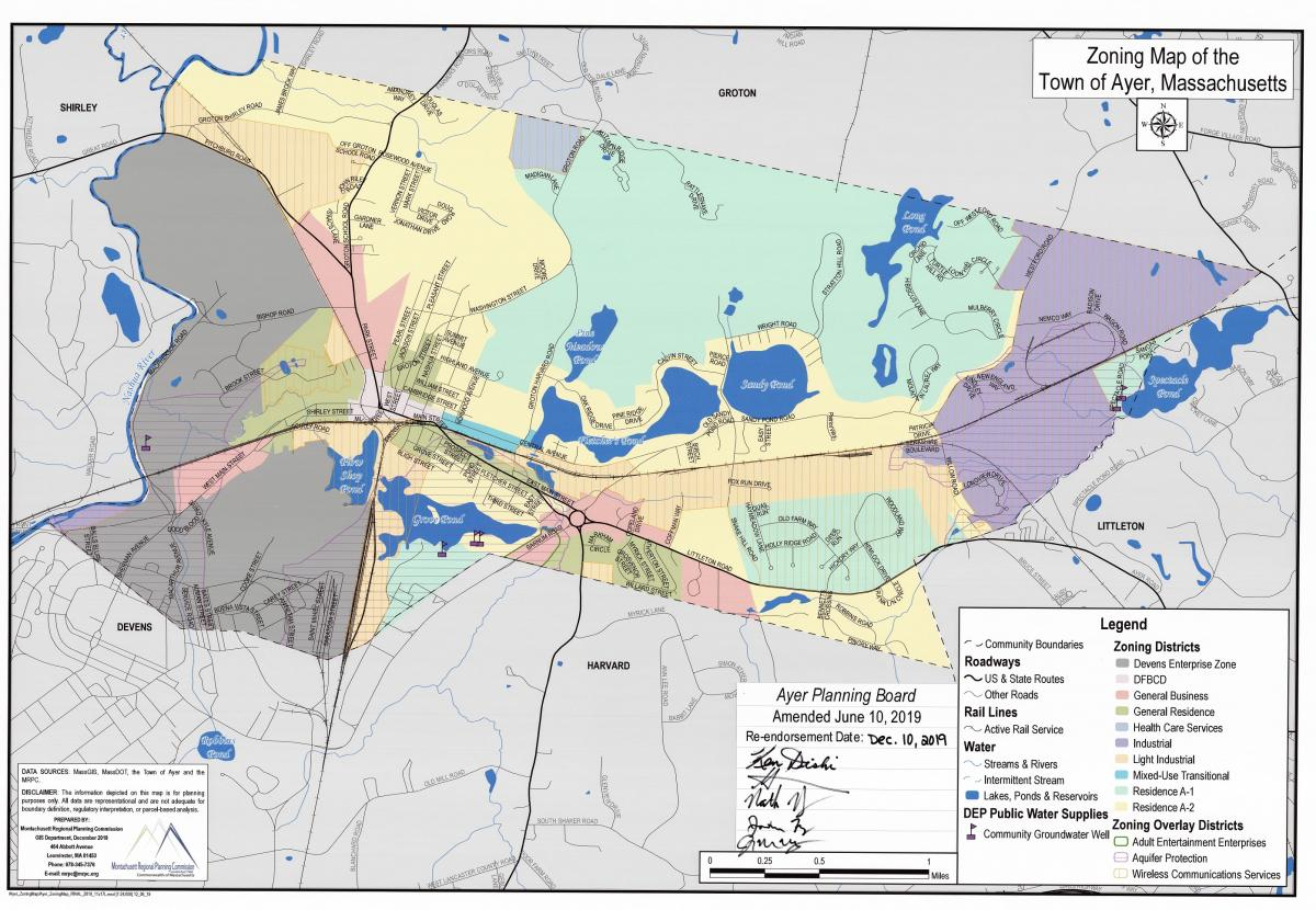 Ayer Zoning Map Signed 12-10-2019