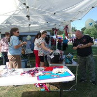Image of July 4th crafts table