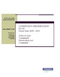 Community Preservation Plan
