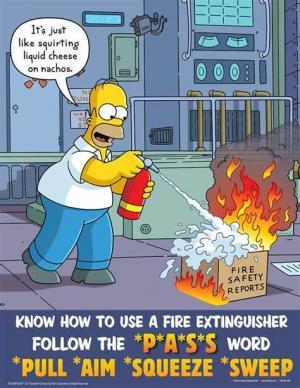 Fire Extinguisher Homer Simpson