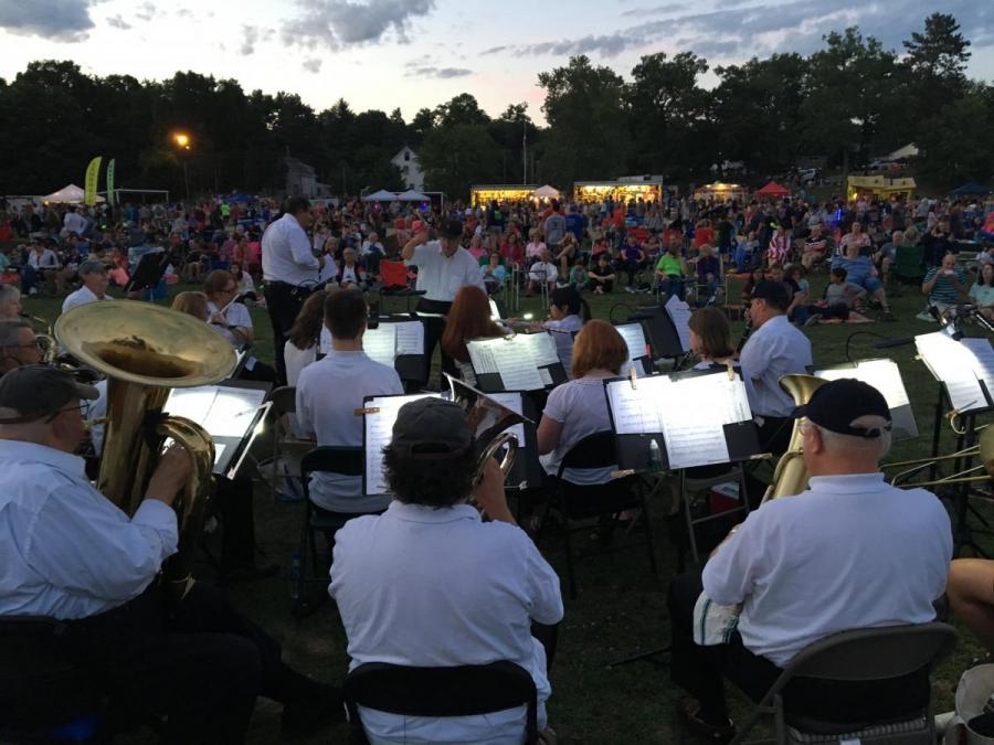 Nashoba Valley Concert Band Pirone Park at Dusk